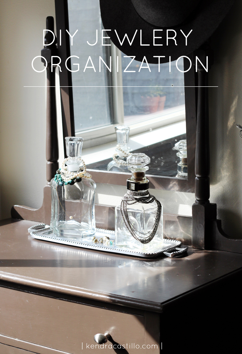 DIY Jewelry Organization Stand - Kendra Castillo