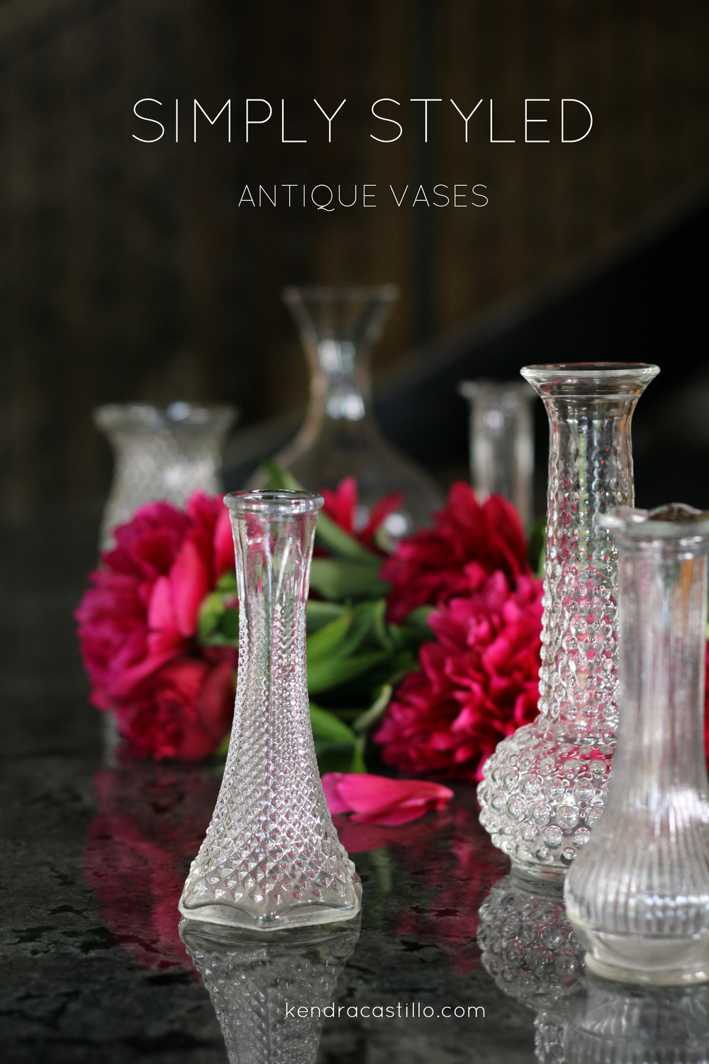 Interior styling made simple using antique glass vases kendra simply styled interiors antique vases kendracastillo reviewsmspy