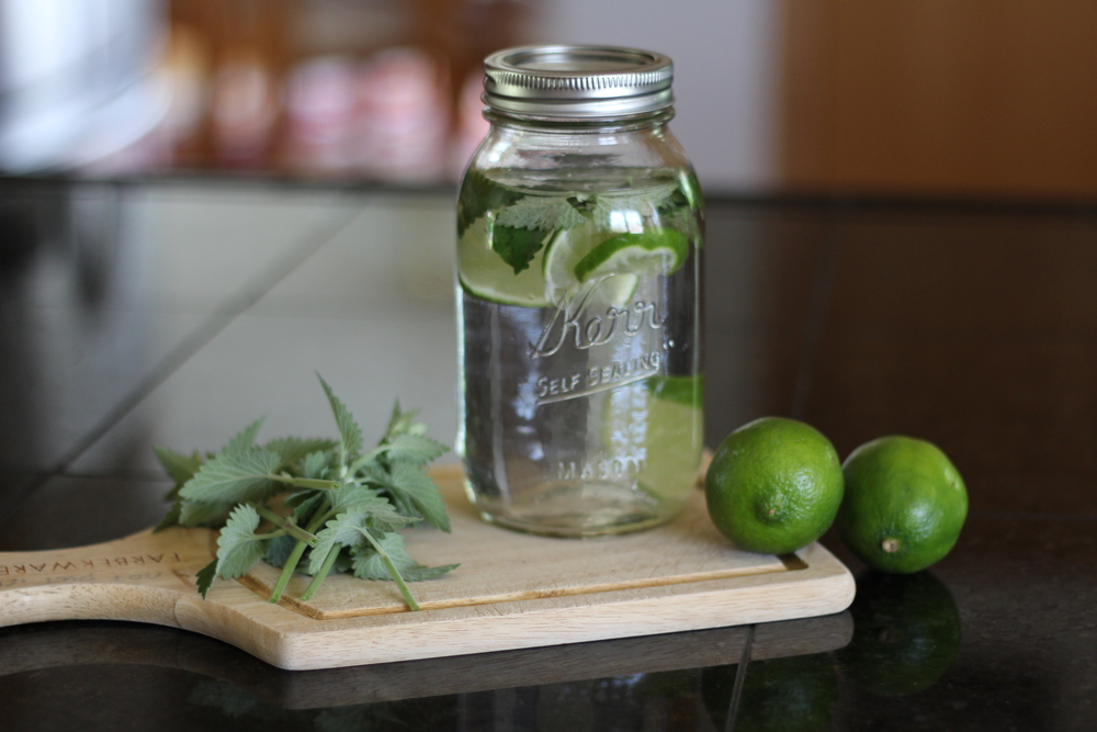 Kendra Castillo: Mint and Lime Infused Water