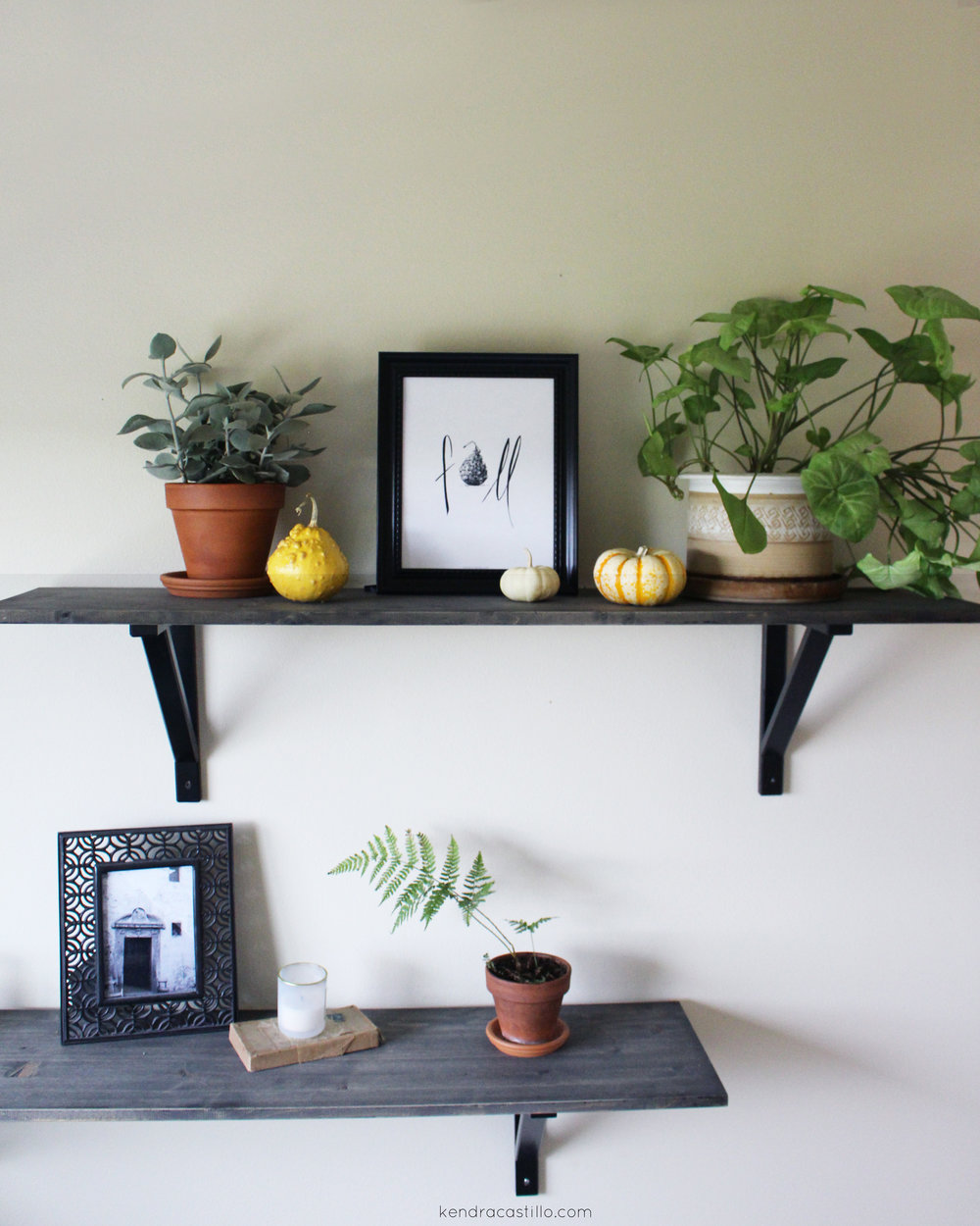 Kendra Castillo: Styling Open Shelves for Fall + a Free Fall Printable