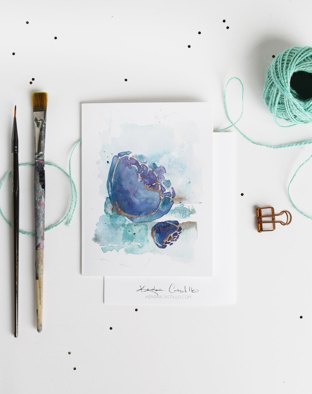 perfect Christmas Gift // Handmade Watercolor Notecards