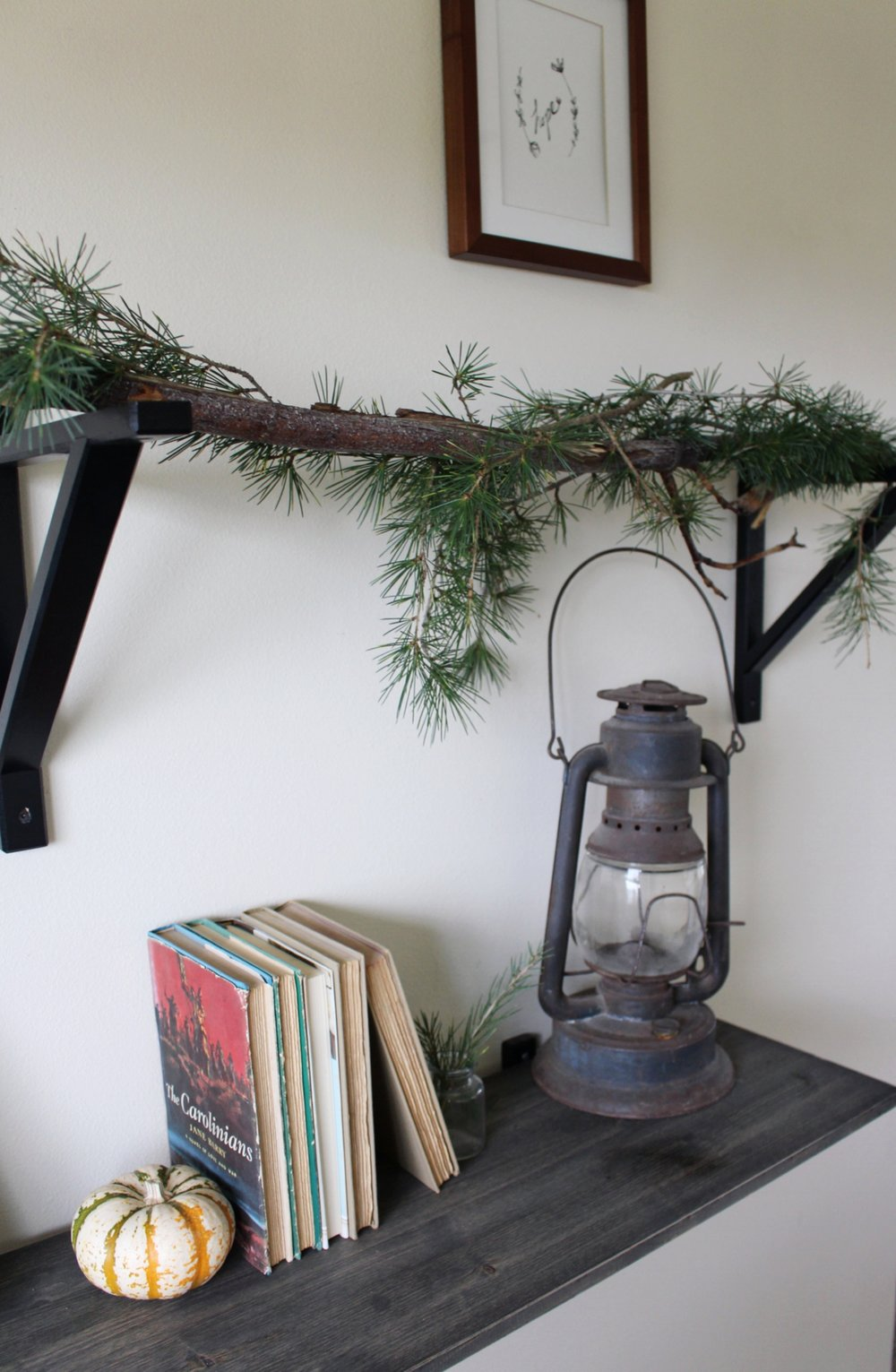 Open Shelving Holiday Decor