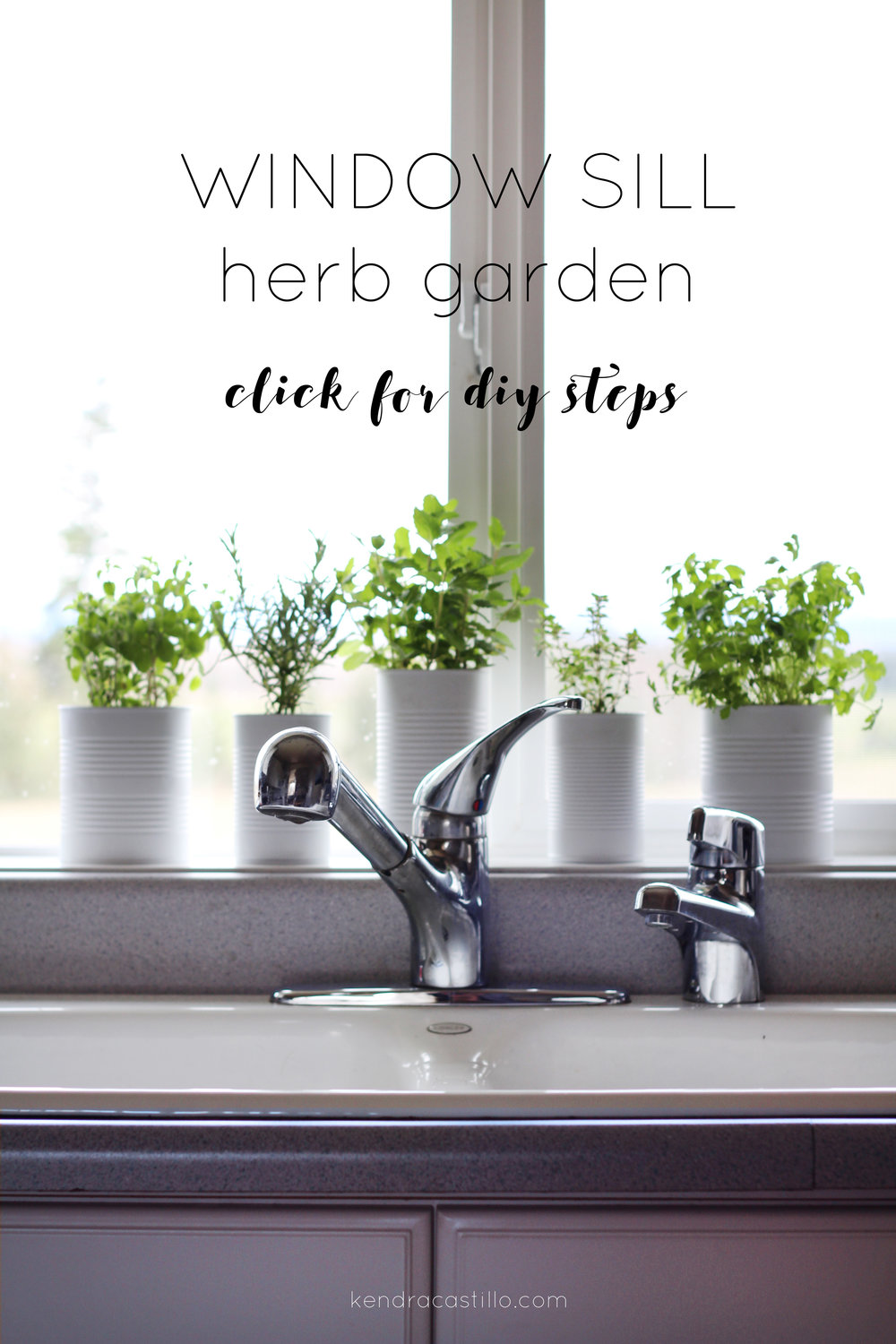 DIY Window Sill Herb Garden | Kendra Castillo