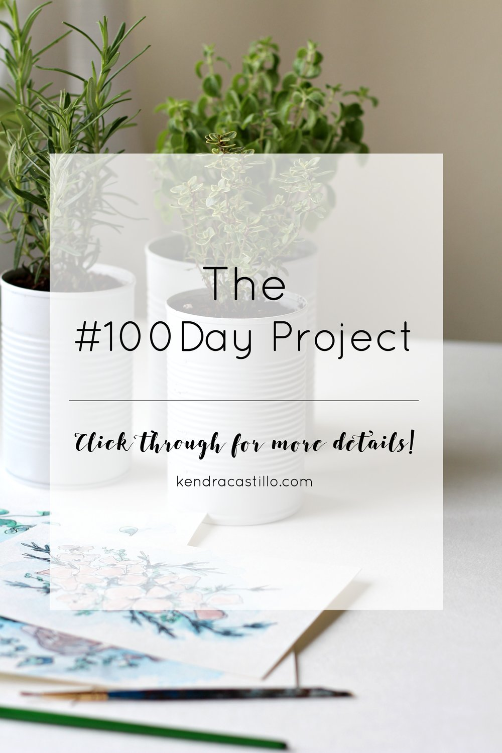 Will you join with me? Why I chose to participate in the #100DayProject.  | Kendra Castillo