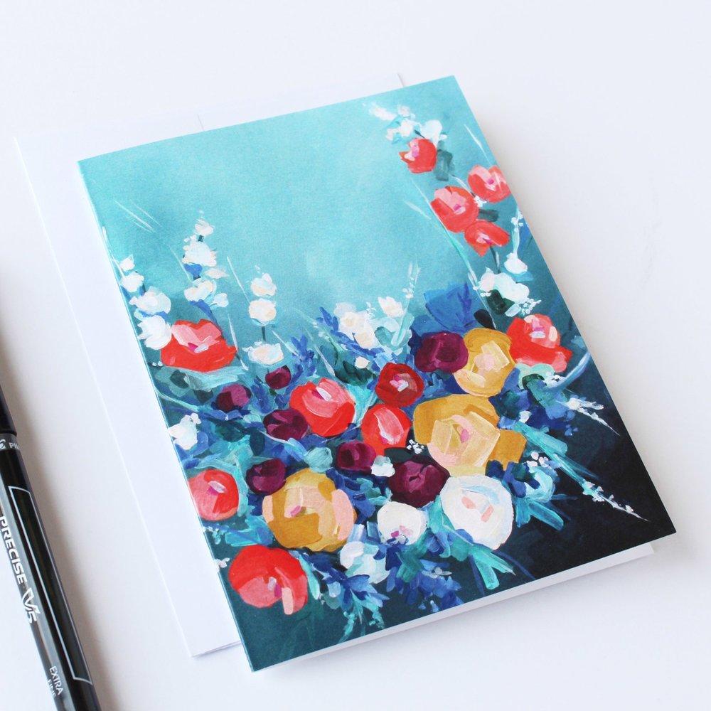 Blank Flower Card Sets - Kendra Castillo
