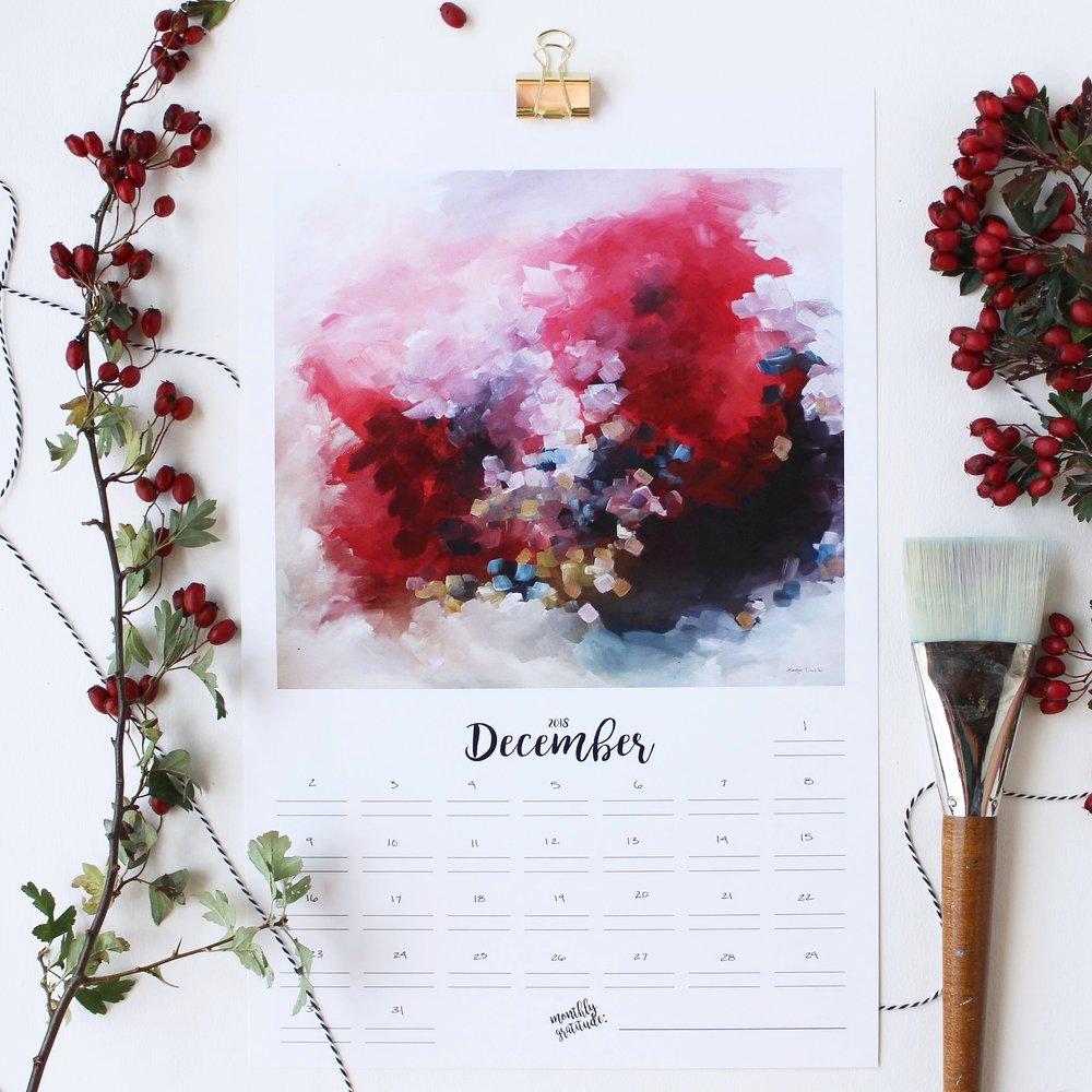 2018 Abstract Painting Calendar - Kendra Castillo