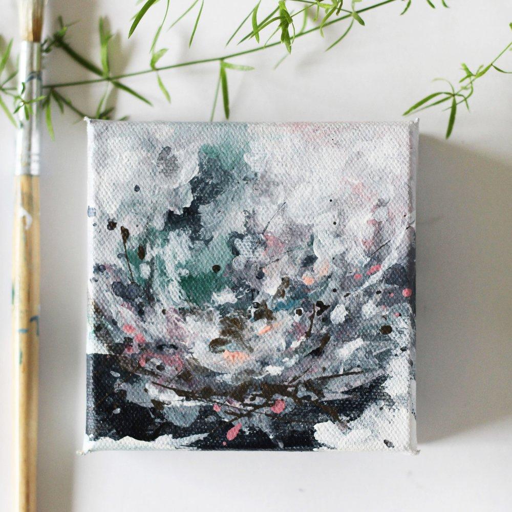 Mini paintings by Kendra Castillo