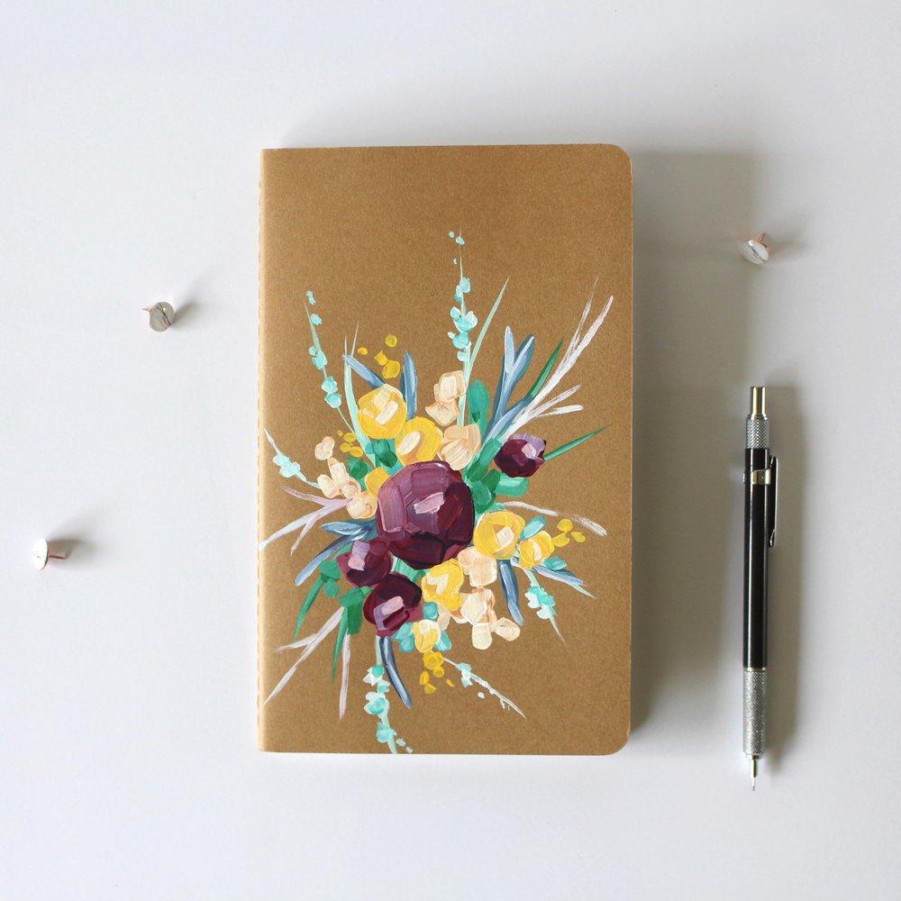 HAND PAINTED JOURNALS -