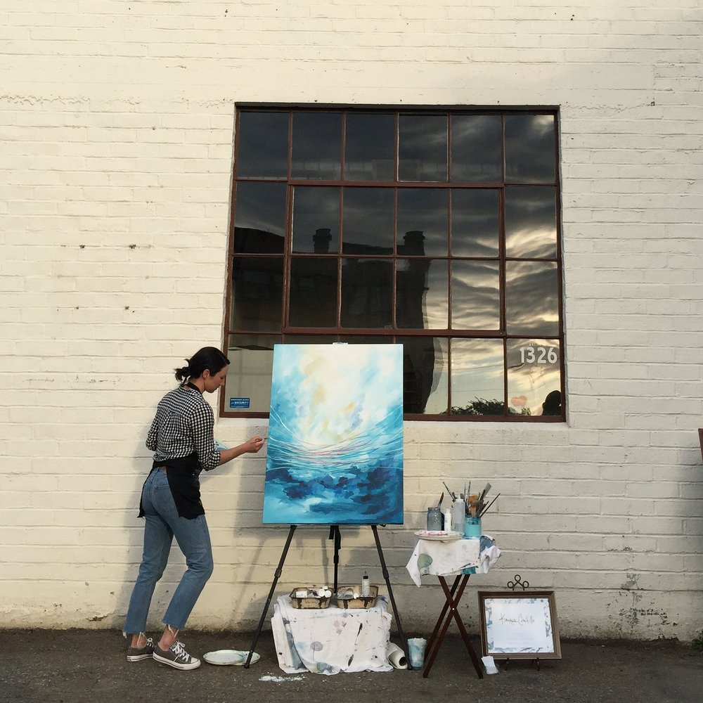 Kendra Castillo Paints Live at Bellingham's Aslan Depot