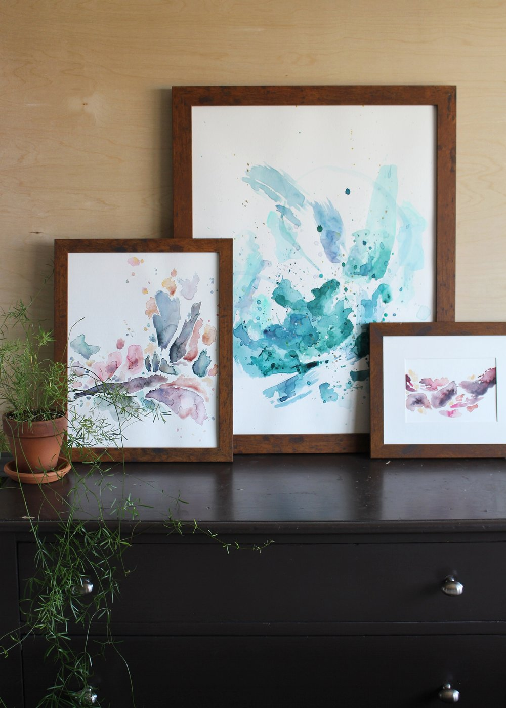 "New paintings from the ""Meditation"" Collection by abstract artist Kendra Castillo"