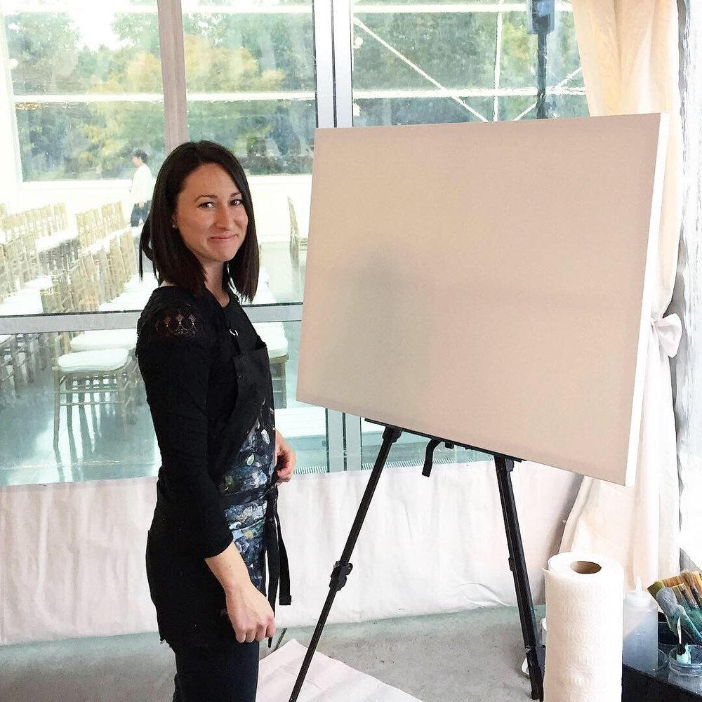Live Event and Wedding Paintings, abstract wedding and event artist Kendra Castillo.