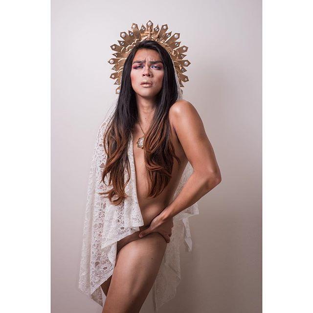 """Ina ng Grasya""  #selfie#artofinstagram#wip#drag#religious#pious#blasphemy#gender#lgbtq#nikon#photoshop#textile#instagay#shoulderaction#wypipo"