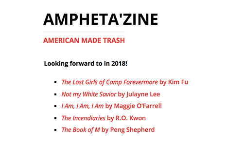 Ampheta'zine: Looking Forward to in 2018