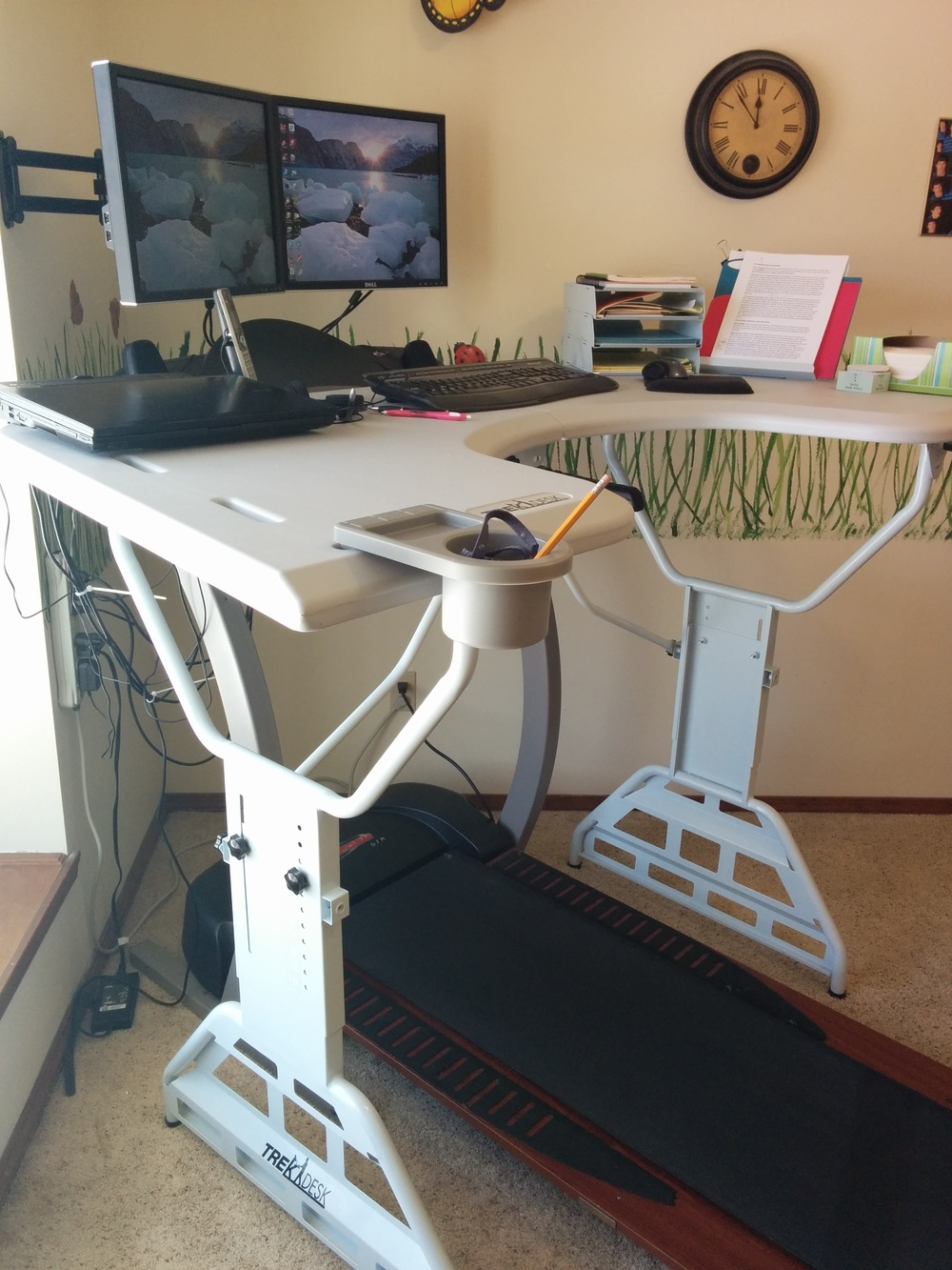 My treadmill desk