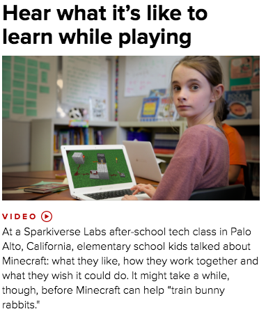 Check out the feature on Sparkiverse and Minecraft on c|net!  Click  here .