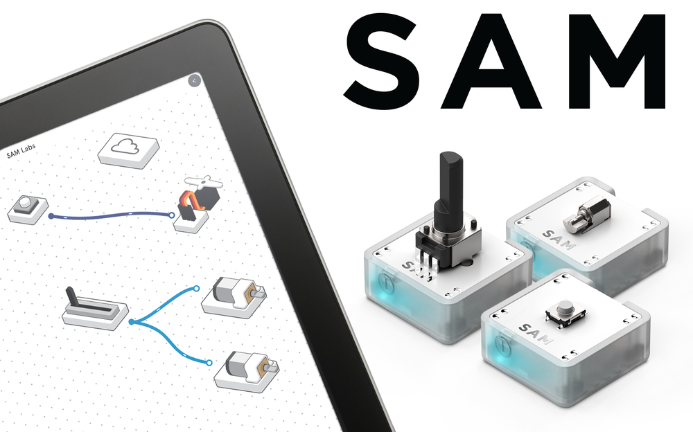 Straight from KickStarter, this class features SAM Labs Internet Connected Electronics Kit