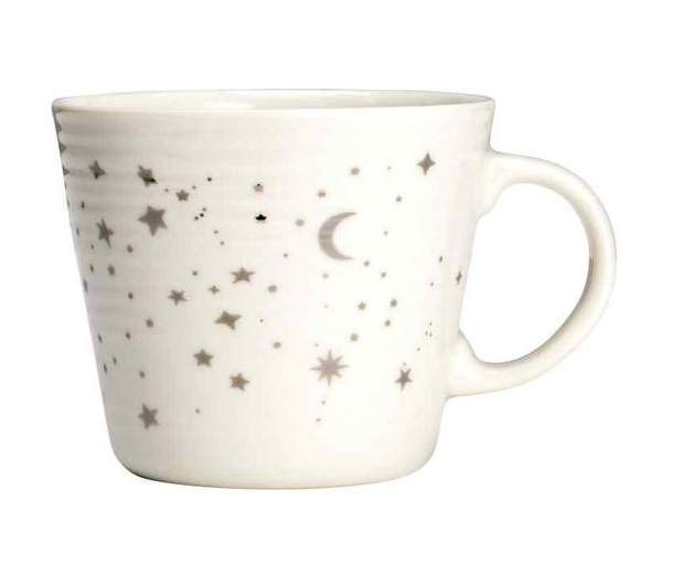soi 55 lifestyle star picks star print white mug from H&M