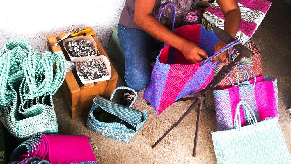 Soi 55 Lolita beach bags - handmade by artisans in Mexico