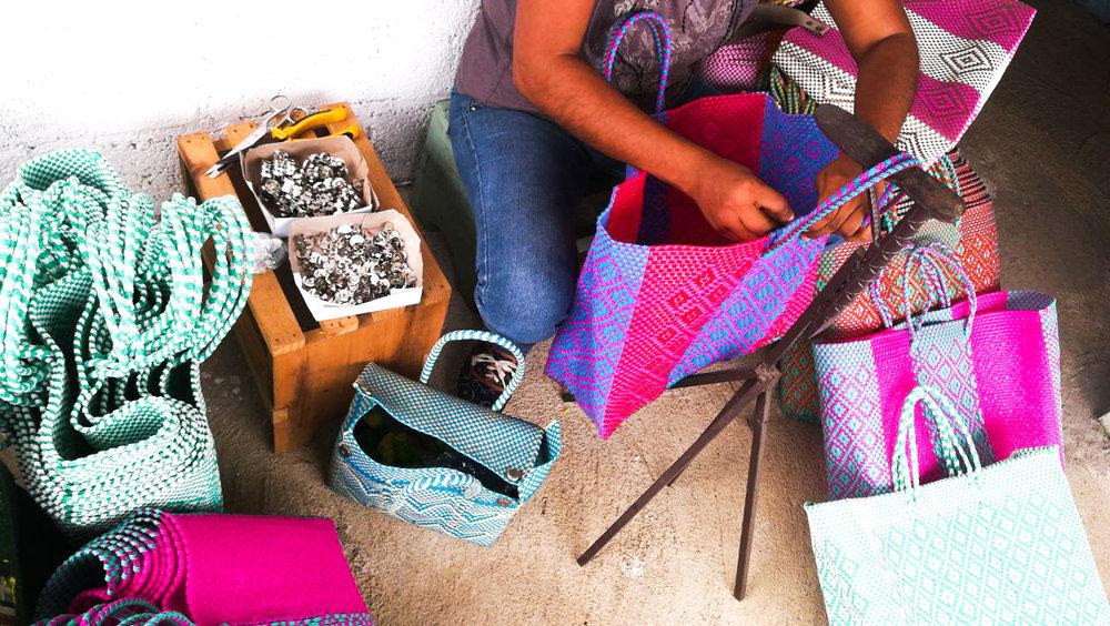 Soi 55 Lolita beach bag handmade by artisans in Mexico