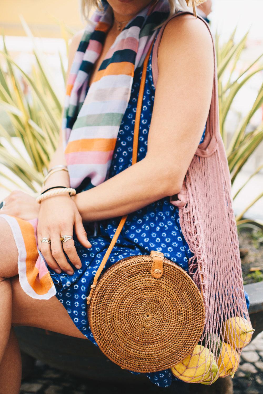3 ways to style a Rattan Straw Round Basket Bag | Soi 55