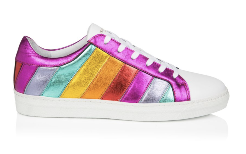 DLAM X AIR & GRACE trainers / Rainbow stripe trend : 5 rainbow fashion finds