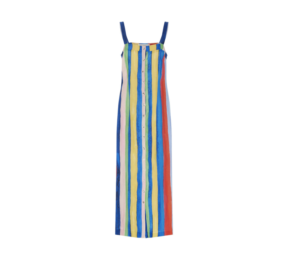 Mara Hoffman Dress / Rainbow stripe trend : 5 rainbow fashion finds