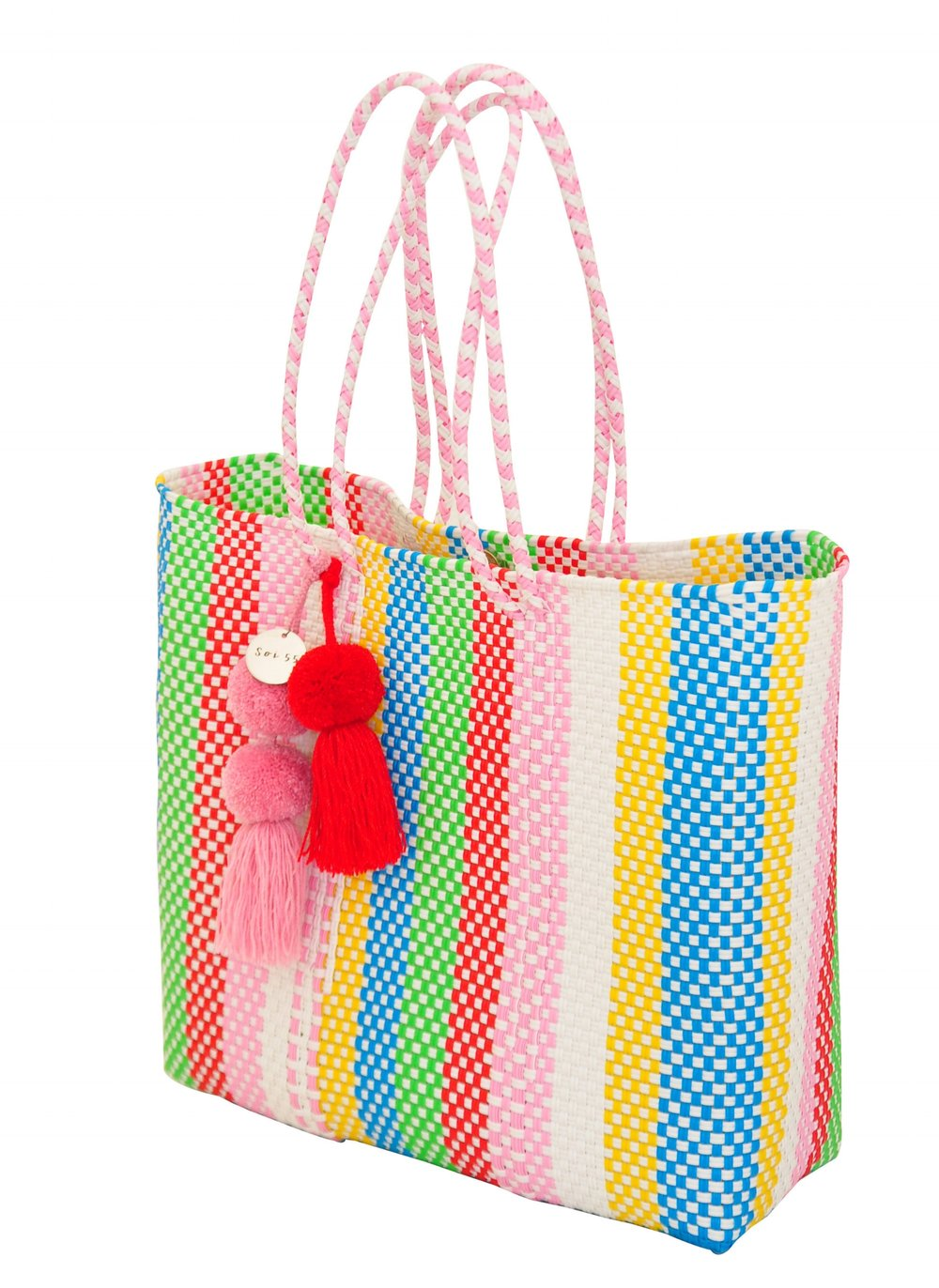 Soi 55 rainbow tote bag / Rainbow stripe trend : 5 rainbow fashion finds