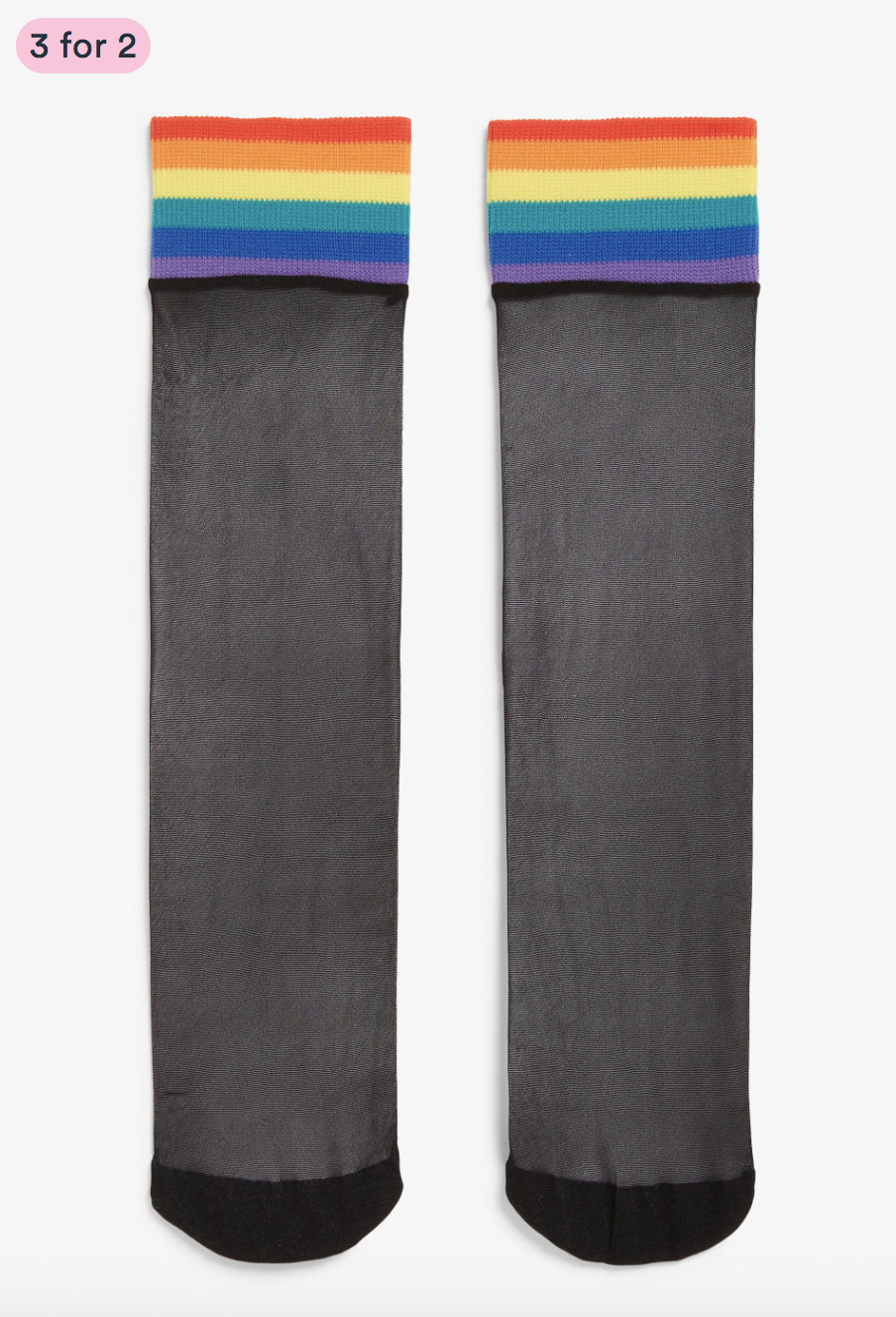 Monki rainbow socks / Rainbow stripe trend : 5 rainbow fashion finds