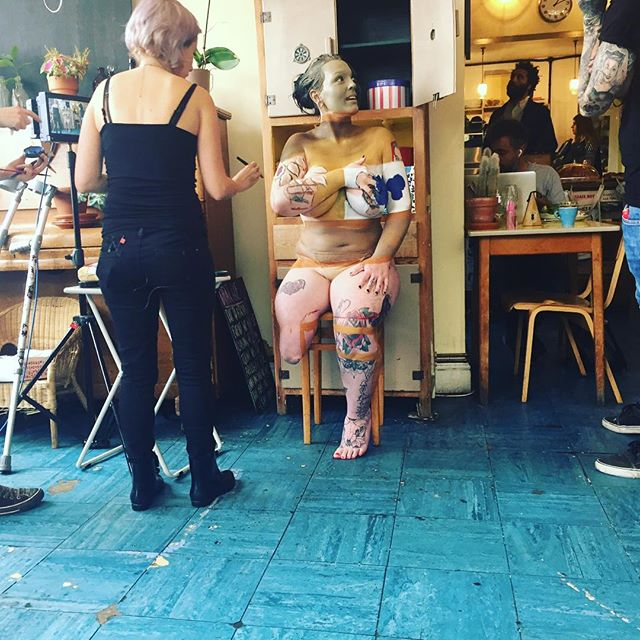 @bodypaintgirl and @reallifepirate hard at work on Naked and Invisible, our new series for Channel 4. Watch the whole beautiful episode unfold here http://bit.ly/20CP7Ge