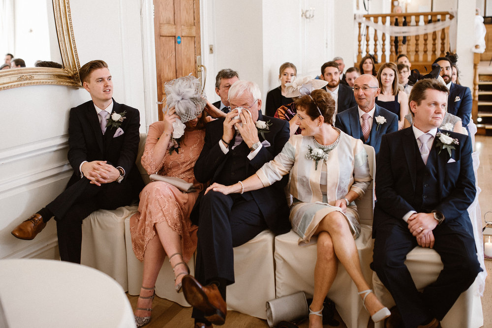 An emotional moment at Sophia and Jonathan's West Tower wedding last year.