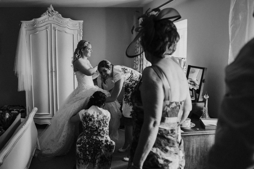Bridal Prep by Cheshire Unposed Documentary Wedding photographer Louise Jacob