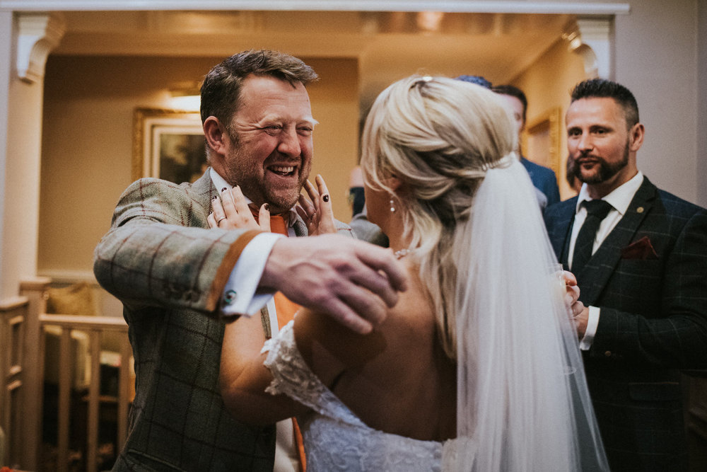 Documentary Wedding Photography hug