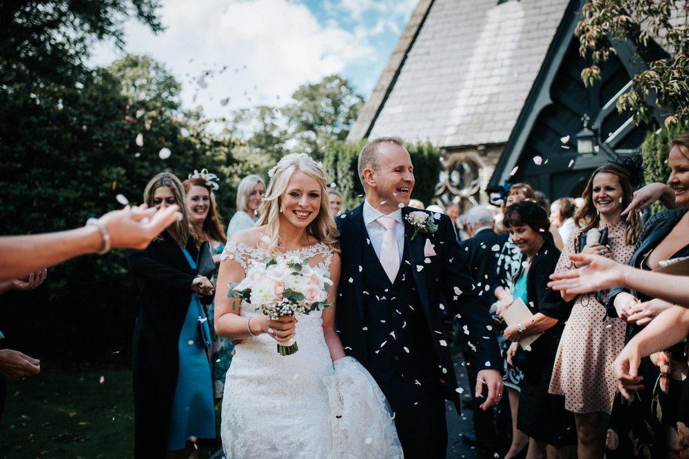Cheshire Wedding Photography - Confetti in Dunham Massey