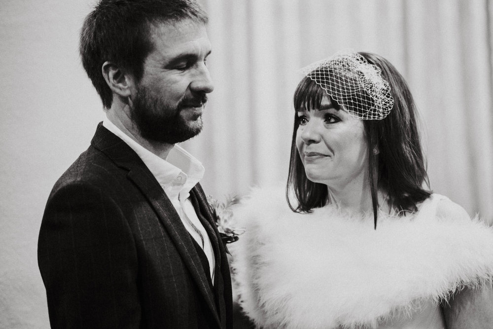 Wedding Photojournalism - An emotional bride and groom