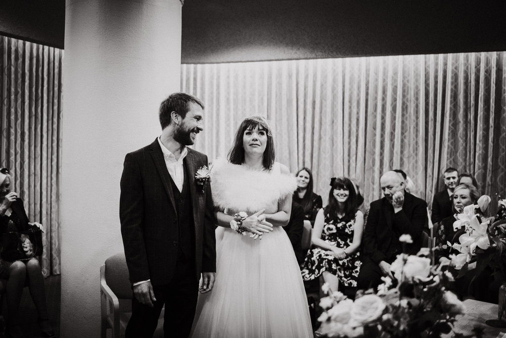 Wedding Photojournalism - Bride and groom happy tears