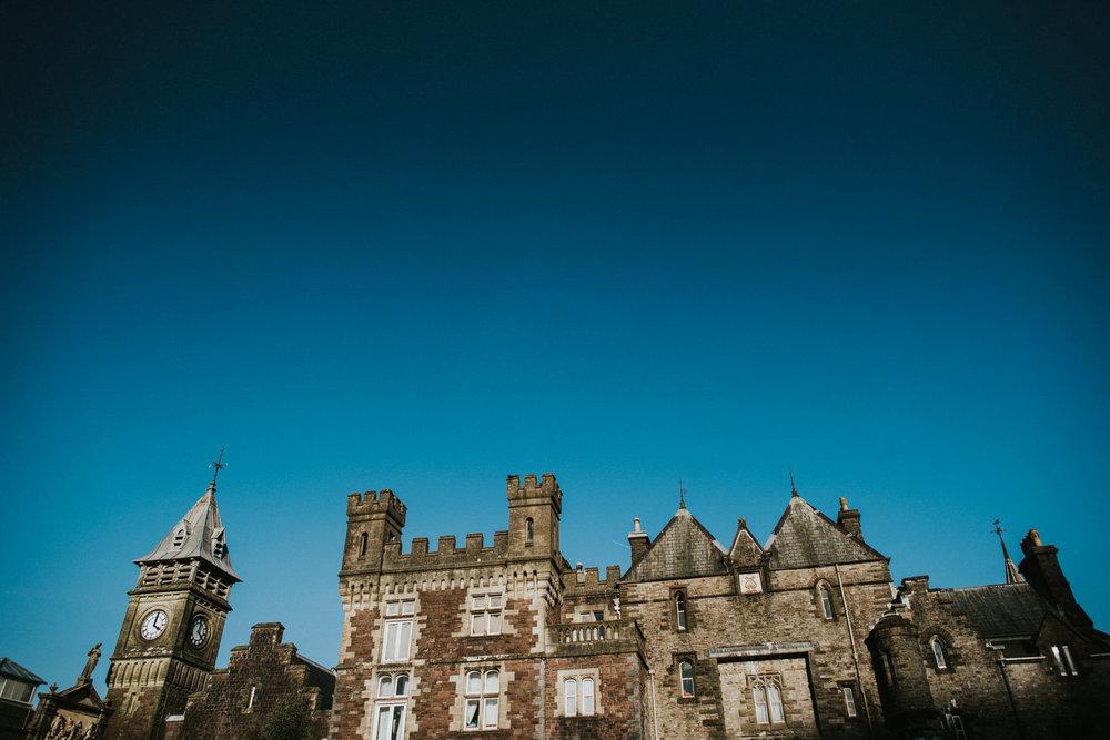 Wedding Photojournalism - Craig Y Nos Castle in the sunlight.