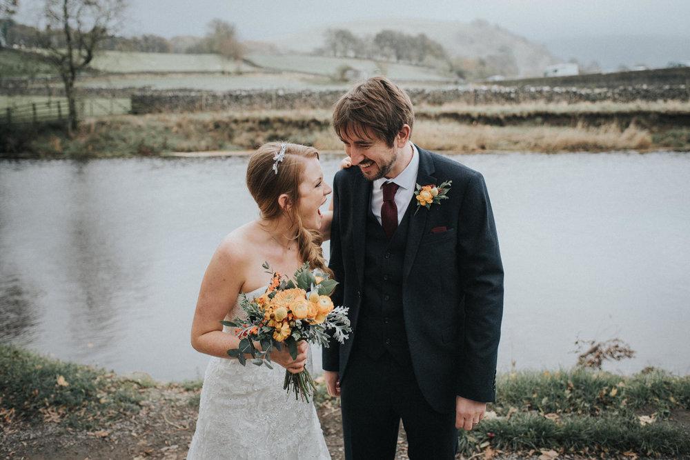 Cheshire Unposed Documentary Wedding Photographer Louise Jacob in Burnsall