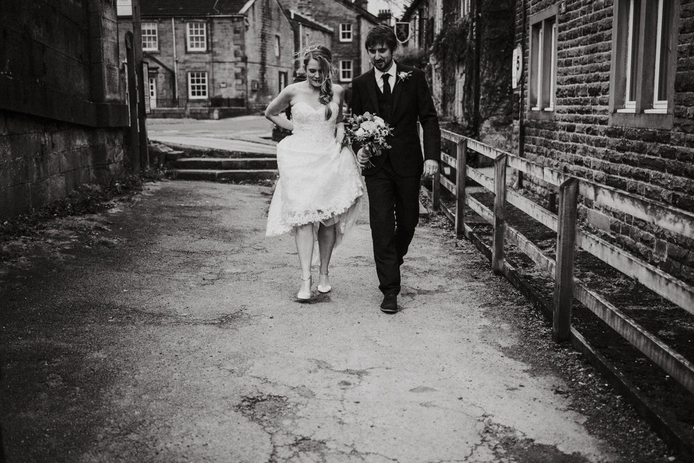 Cheshire unposed documentary wedding photographer Louise Jacob in Burnsall, Yorkshire Dales