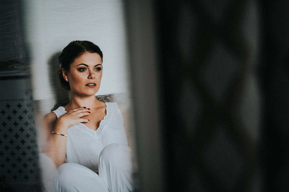 Cheshire Wedding Photography - bride reflection