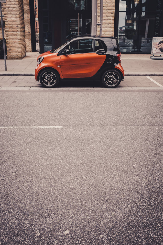 Ein Smart Fortwo in Hamburg