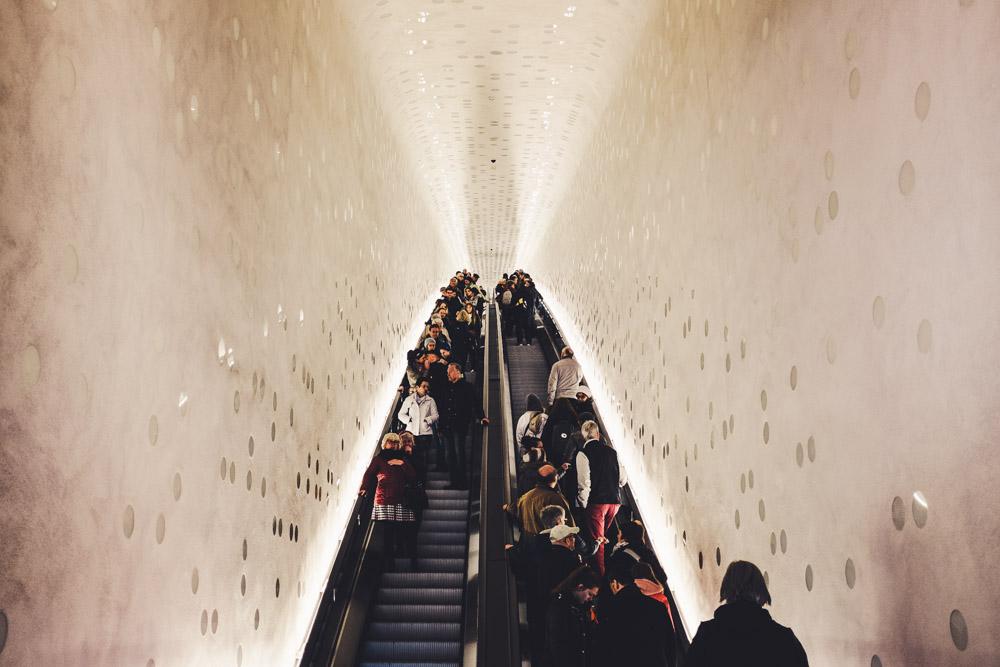 Die Rolltreppe in der Hafencity