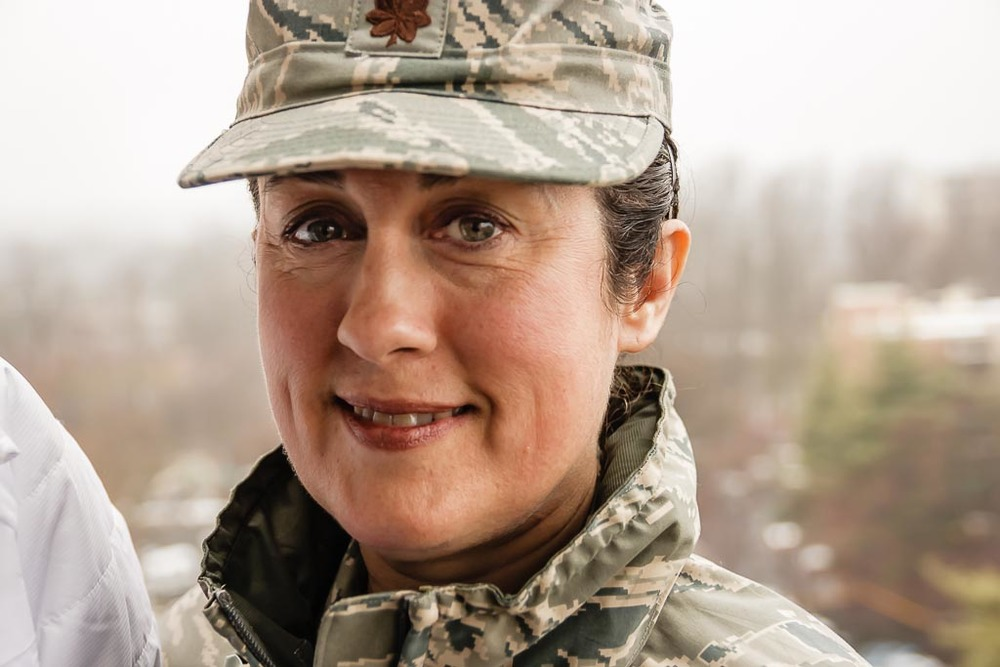 Theresa Maagoul (Maj, USAF) at Munson Hill Towers (2014