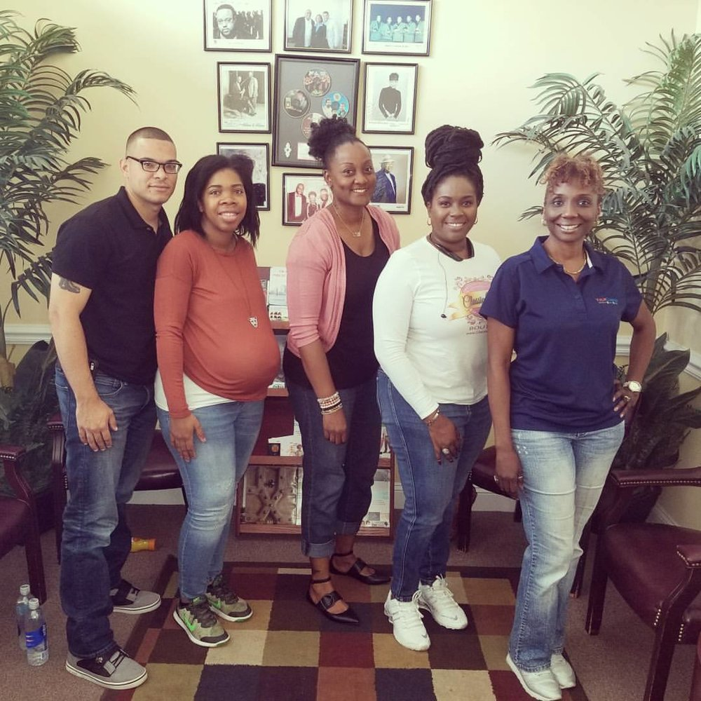 Pictured left to right: Allan, Aleta, Felicia, Jumora and Chastity  Photo Credit: Felicia B. Wright