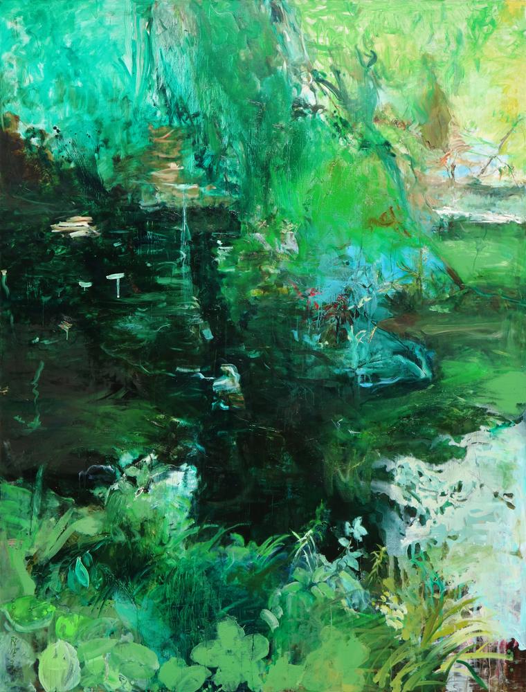 Minuscape_오필리아의 연못, 291 x 218 cm, oil on canvas, 2017(2015)