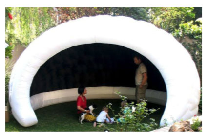 Inflatable enclosures can add intimacy to large areas, giving attendees a nice space for private discussions and friends away from the main event.