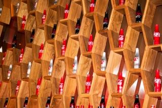 Coca-Cola bottle display