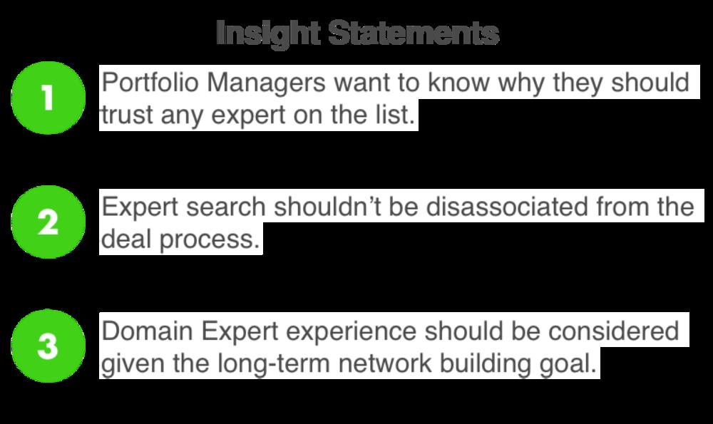 Insights Statements
