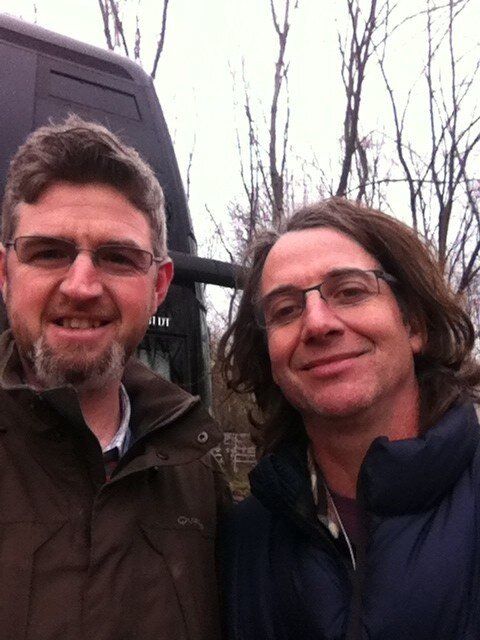 Stone Gossard and I. Photo: M McLoughlin