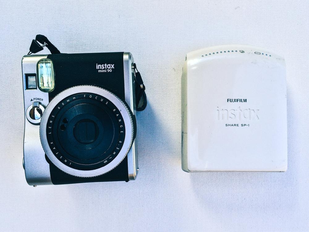 Instax share sp-1:http://www.fujifilm.com.au/products/instant_photo/printers/instax_share_sp_1  Instax mini 90:http://www.fujifilm.com.au/products/instant_photo/cameras/instax_mini_90