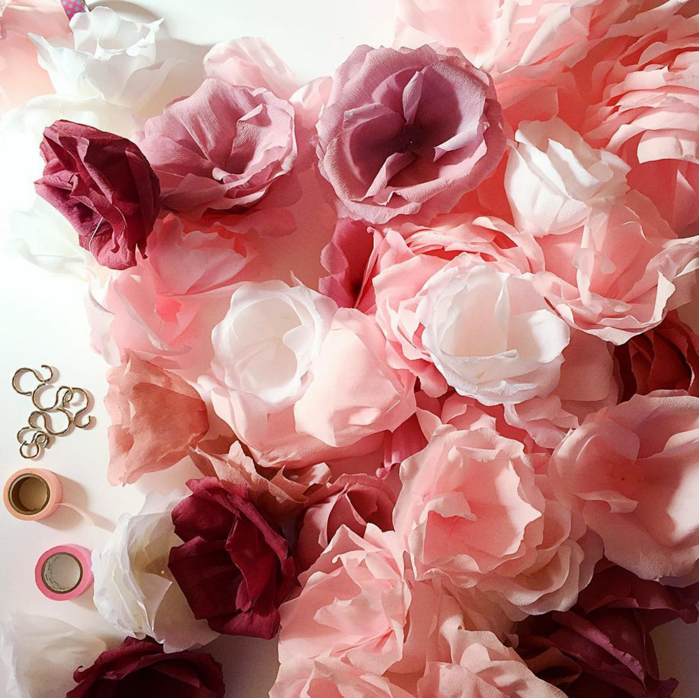 Hello Sandwich Crepe Paper Flowers for Kate Spade